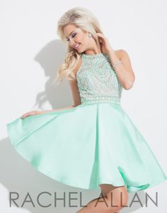 Rachel Allan 4056 Mint Homecoming Dress