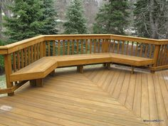 deck bench seating - Google Search