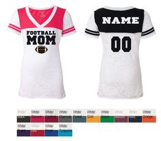 Vneck+Burnout+Football+Tshirts+by+GraphicsUnlimitedLLC+on+Etsy,+$25.00