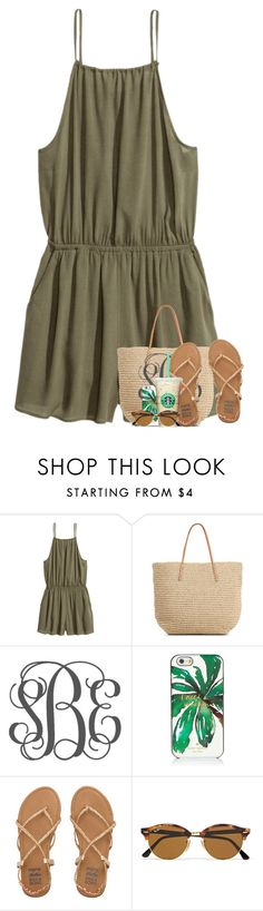 """""""high tides and good vibes"""" by theblonde07 ❤ liked on Polyvore featuring H&M, Target, Kate Spade, Billabong and Ray-Ban"""
