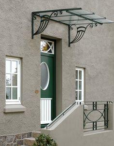 Canopy for the cellar Gate Design, Door Design, Exterior Design, Iron Doors, Iron Gates, Metal Awning, Metal Roof, Wrought Iron Decor, Window Grill