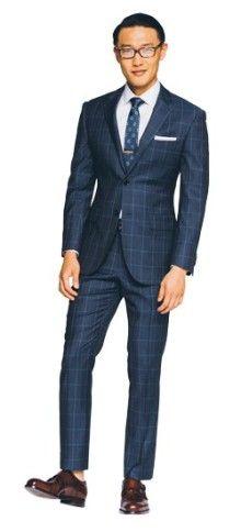 Indigo Windowpane Herringbone Suit  www.indochino.com