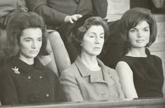 Lee Radziwill with Jackie and their mother, Janet Auchincloss