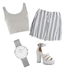 """Untitled #53"" by alessiacaravetta on Polyvore featuring Topshop, WithChic and Daniel Wellington"