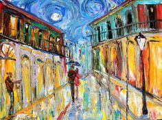 Original oil painting New Orleans French Quarter by #Karensfineart