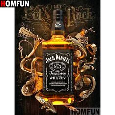 Jack Daniels Painting - Full Drill Diamond Painting Kit Jack Daniels Whiskey Mosaic Jack Daniels Painting By Richard Wallich Jack Daniels Whiskey Painting By Mc Delaney Jack . Whisky Jack, Jack Daniels No 7, Jack Daniels Bottle, Bebidas Jack Daniels, Jack Daniels Wallpaper, Jack Daniels Distillery, Diamond Picture, Retro Typography, Tennessee Whiskey