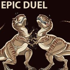 a funny t-rex pictures epic duel - Dump A Day Funny Shit, A Funny, Hilarious, Funny Stuff, T Rex Jurassic Park, T Rex Arms, T Rex Humor, Dinosaur Funny, Dinosaur Pics