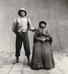 Indian man with seated woman, Cuzco, Peru, 1948, Irving Penn