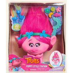 "DreamWorks Trolls Poppy Styling Station -  Just Play - Toys""R""Us"