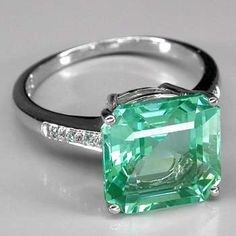 Blue Green Paraiba Tourmaline Ring