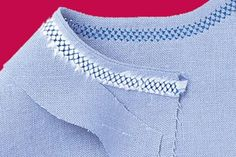 How to Hemstitch by Machine - Threads    Using hemstitching to avoid finishing a facing? SCORE.