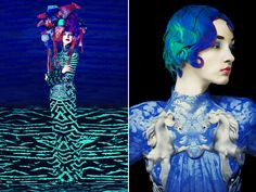 Mary Katrantzou has once again joined forces with photographer Erik Magidan Heck with a series of dreamlike images highlighting pieces from her spring and fall collections.