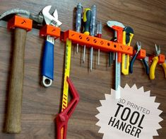 Printed Tool Hanger : 7 Steps (with Pictures) - Instructables 3d Printing Business, 3d Printing Diy, 3d Printing Service, 3d Printer Designs, 3d Printer Projects, Diy 3d Drucker, Useful 3d Prints, Tool Hangers, 3d Filament