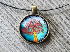 Strom života Pocket Watch, Belly Button Rings, Pendant Necklace, Accessories, Jewelry, Jewlery, Jewerly, Schmuck, Jewels