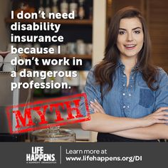 of disabilities are caused by illnesses. Disability insurance covers you for both. Financial Literacy, Financial Tips, Financial Planning, Insurance Quotes, Life Insurance, Health Insurance, Life Happens, Shit Happens, All About Insurance