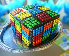 Rainbow Rubix Cube Cake