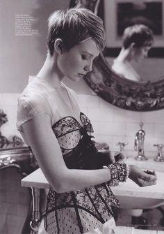 Mia Wasikowska. Short hair, Polish last name...that's enough for a girl crush.