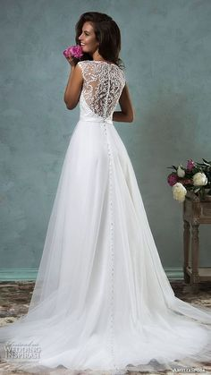 70 Stunning And Timeless A-Line Wedding Gowns   HappyWedd.com