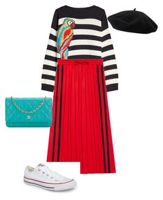 """Weekend chic"" by mariagarzillo on Polyvore featuring mode, Marc Jacobs, Gucci, Converse, Chanel et Goorin"