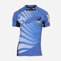 Western Force Super 15 Rugby Union 2014 Home Jersey Shirt From BLK