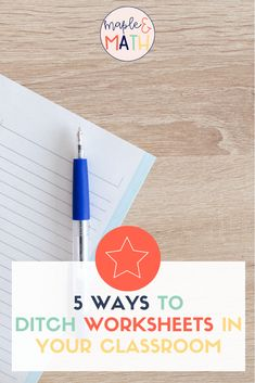 Ideas to ditch #worksheets or really just enhance them Math 5, Middle School Classroom, Instructional Strategies, New School Year, Going Back To School, Math Centers, Math Activities, Textbook, Lesson Plans