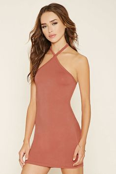 Halter Bodycon Mini Dress