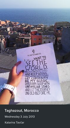 Katarina Tavcar took a photo of the manifesto in Taghazout, Morocco.