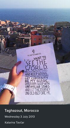Katarina Tavcar took a photo of the manifesto in Taghazout, Morocco.