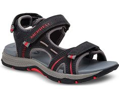 50e5d01bdc24 Panther Water Sandal in Black and Red by Merrell Kids Merrell Kids
