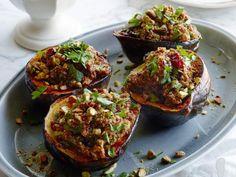 Get Vegan Quinoa-Cranberry Stuffed Acorn Squash Recipe from Food Network