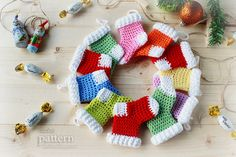 Crochet Pattern Crochet Christmas Stocking Ornaments. $3.90, via Etsy.