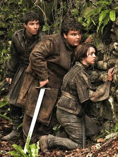 Arya, gendry and Hotpie #got #agot #asoiaf