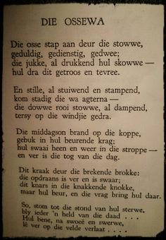 Die Ossewa - Jan.F.E.Celliers South African Poems, Prayer Verses, Bible Verses, Goeie Nag, Afrikaans Quotes, African History, Educational Activities, Sign Quotes, Positive Quotes