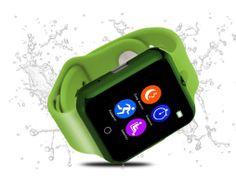 Namakané inteligentné bluetooth hodinky v zelenej farbe