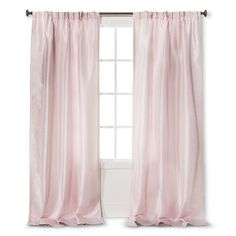 Simply Shabby Chic Faux Silk Pleat In Pink 84 Long For Office Window From Target
