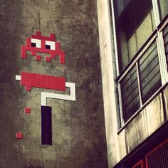 Space Invader in Soho. Call it street art, call it graffiti... looks great either way.