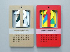 Cut Out Number Calendars at Present & Correct