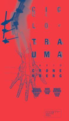Ciclo de Cine - David Cronenberg by Santi Passero, via Behance