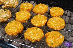 Sweet potato and haloumi burgers