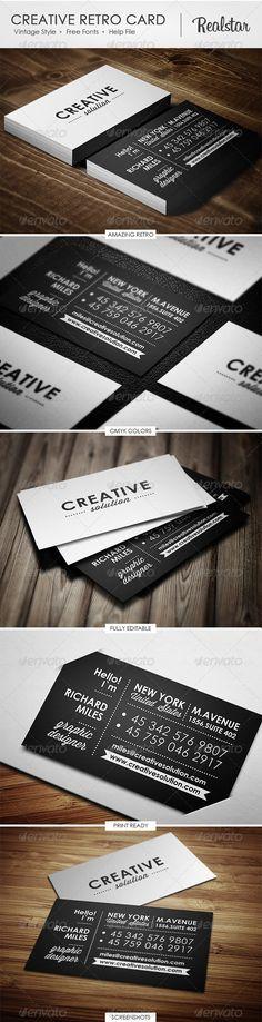 Creative Retro Business Card http://graphicriver.net/item/creative-retro-business-card/4619002?WT.ac=new_item_1=new_item_author=Realstar