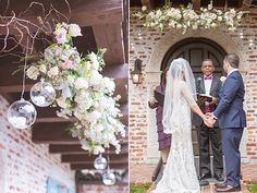 Floating floral altarpiece (Flowers by Lee Forrest Design,  photo: Mark Cantalejo Photography)