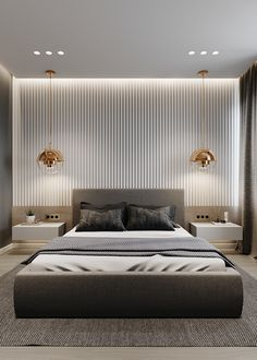 Apartment in the house MAYAKOVSKY, a joint project with Pavel Godyayev. Small Modern Bedroom, Modern Master Bedroom, Stylish Bedroom, Modern Bedroom Design, Contemporary Bedroom, Modern Luxury Bedroom, Modern Hotel Room, Luxury Master Bathrooms, Contemporary Kitchens