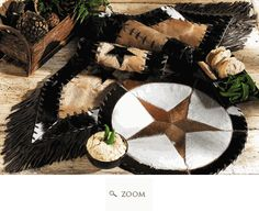 Cowhide table runner and placemats