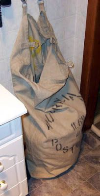 An old post bag makes a great laundry hamper. Out Of My Mind, Farms Living, Laundry Hamper, Wash Bags, Wonderful Things, Bag Making, Repurposed, Upcycle, Recycling