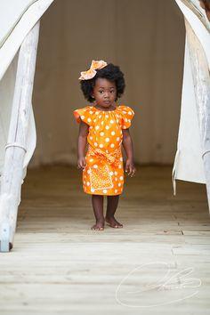 Pretty in orange polka dots...