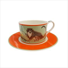 Lynn Chase Monkey Business Cup & Saucer