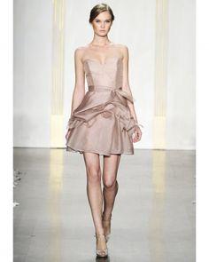 Noir by Lazaro/Brown Bridesmaid Dresses - Martha Stewart Weddings Fashion & Beauty