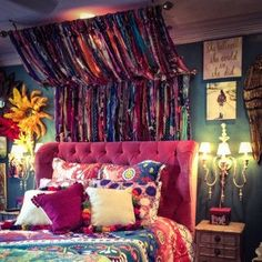 Fashion Tips Videos Bohemian hippie handmade curtains Shipping available outside Bohemian House, Bohemian Bedroom Decor, Boho Room, Boho Decor, Gypsy Bedroom, Gypsy Decor, Bohemian Dorm Rooms, Hippie Bedrooms, Bohemian Furniture