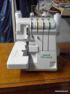 white speedylock 7340 serger sewing machine in original box rh pinterest com