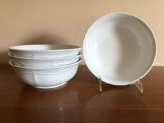 Four Mikasa French Countryside Coupe Cereal Bowls Mint Condition Mikasa French Countryside, Four 4, Cereal Bowls, Accent Pieces, Dinnerware, Stoneware, Conditioner, Mint, Tableware
